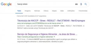 Resultados nos motores de busca